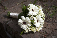 Wedding flowers bouquet with white gerbera flowers Stock Image