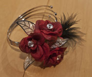 Wedding flowers bracelet Royalty Free Stock Image