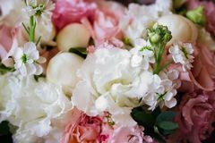 Wedding flowers, bridal bouquet closeup. stock photography