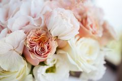 Wedding flowers, bridal bouquet closeup. royalty free stock images