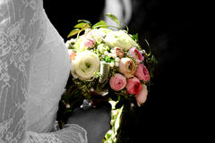 Wedding flowers bride Stock Images
