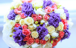 Wedding flowers. Bride bouquet. Roses. Stock Photography