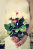 Wedding flowers bride, vintage royalty free stock images