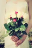 Wedding flowers bride, vintage Royalty Free Stock Images