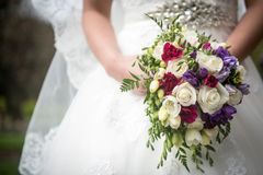 Wedding Flowers. Brides Royalty Free Stock Photo