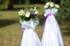 Wedding flowers. The wedding flowers in ceremony Royalty Free Stock Photos