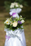 Wedding flowers. The wedding flowers in ceremony Royalty Free Stock Images