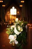 Wedding flowers in a church Royalty Free Stock Images