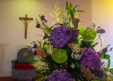 Wedding flowers in Church. Close up stock photography