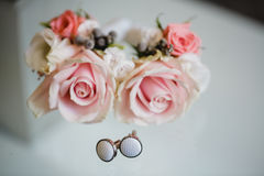 Wedding flowers dekor bride Stock Photography