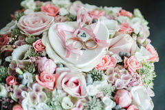Wedding flowers dekor bride Stock Photos