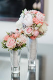 Wedding flowers dekor bride Royalty Free Stock Photo