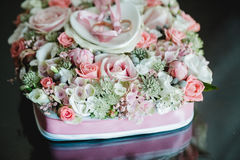 Wedding flowers dekor bride Stock Photo