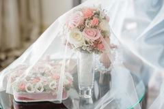 Wedding flowers dekor bride Stock Images