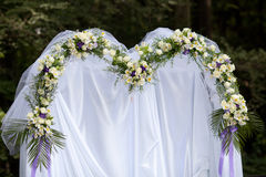 Wedding flowers. The wedding gate in ceremony Royalty Free Stock Image
