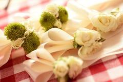 Wedding flowers for groomsmen Stock Photo