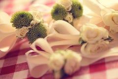 Wedding flowers for groomsmen Stock Image