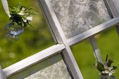 Wedding flowers in jar Royalty Free Stock Images