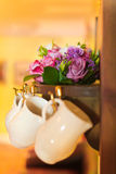 Wedding flowers in jar Stock Photo