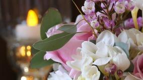Wedding flowers loop stock video