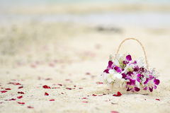 Wedding Flowers in Maldives beach Royalty Free Stock Photography