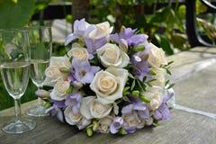 Wedding flowers. My girlfriend got married - pure love Royalty Free Stock Image
