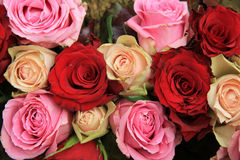Wedding flowers in pink and red Royalty Free Stock Images