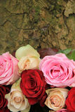 Wedding flowers in pink and red Stock Photos