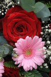 Wedding flowers in pink and red Stock Photo