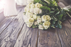Wedding flowers from pink yellow flower. Royalty Free Stock Photos