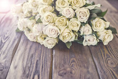 Wedding flowers from pink yellow flower. Royalty Free Stock Photography
