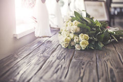 Wedding flowers from pink yellow flower. Royalty Free Stock Image