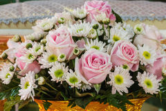 Wedding flowers with rose Royalty Free Stock Images