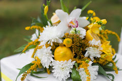 Wedding flowers scene Royalty Free Stock Photo