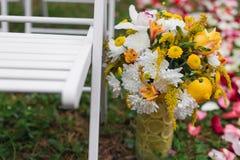Wedding flowers scene Stock Image