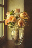 Wedding Flowers. Set by the window Royalty Free Stock Photos