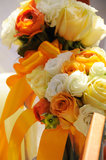 Wedding flowers on the table Royalty Free Stock Image
