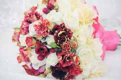 Wedding flowers on the table Royalty Free Stock Photos