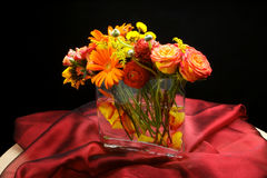 Wedding flowers table centre piece Royalty Free Stock Images