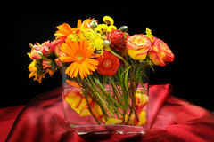 Wedding flowers table centre piece Stock Image