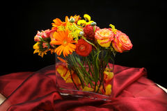Wedding flowers table centre piece Royalty Free Stock Photo
