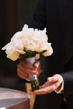 Wedding flowers white roses royalty free stock photos