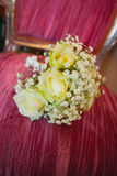 Wedding flowers with yellow roses Royalty Free Stock Image