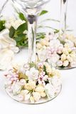 Wedding flutes Stock Image