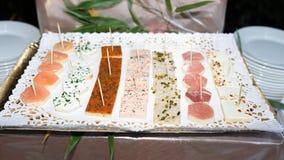Wedding food buffet Stock Photos