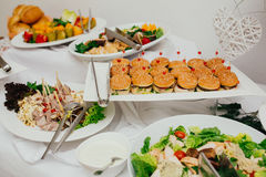Wedding food catering Royalty Free Stock Images