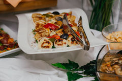 Wedding food catering Royalty Free Stock Photography