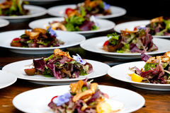 Wedding Food Preperation Stock Photo