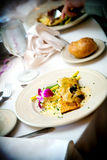 Wedding food table setting Royalty Free Stock Photo