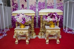 Wedding formality in  Thailand Royalty Free Stock Images